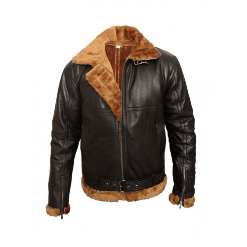 B3 Sheepskin Aviator Leather Bomber Jacket