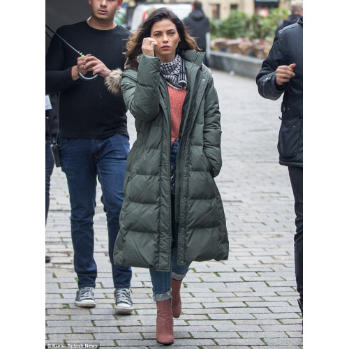 Berlin I love You Jenna Dewan Green Coat