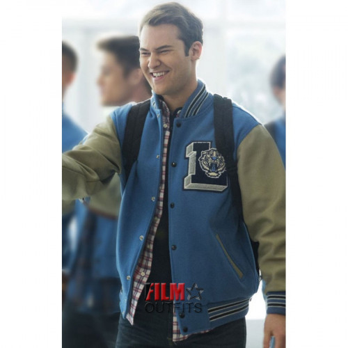 Justin Foley 13 Reasons Why Letterman Jacket