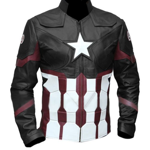 Captain America Civil War Faux Leather Jacket Black