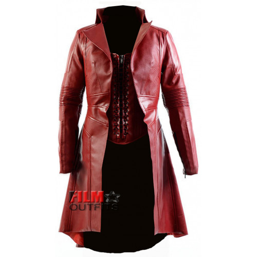 Civil War Scarlet Witch Red Leather Coat
