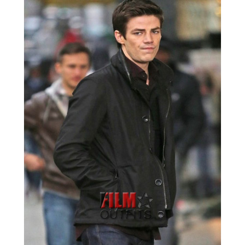 Grant Gustin Barry Allen Black Jacket