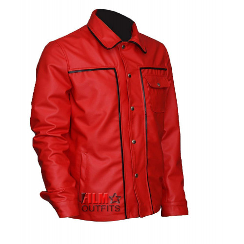 261e398e2 King Of Rock Elvis Presley Red Leather Jacket - Film Star Outfits