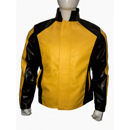 Infamous 2 Game Cole Macgrath Yellow Leather Jacket