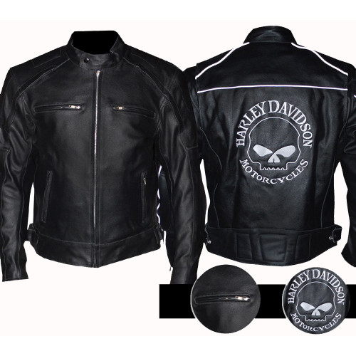 Harley jacke reflective skull