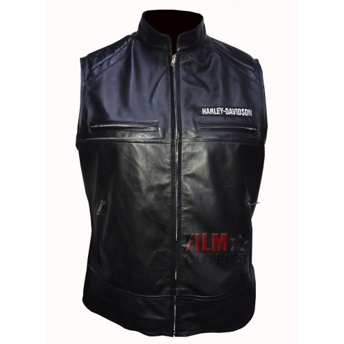 Harley Davidson Leather Motorcycle Vest