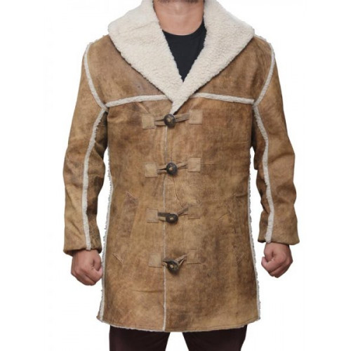 Hell On Wheels Distressed Tan Leather Cullen Bohannon Coat