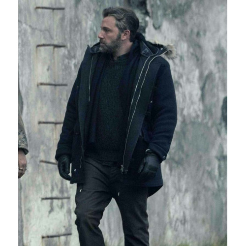 Hooded Justice League Ben Affleck Parka Jacket
