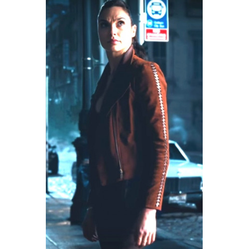 Justice League Gal Gadot Leather Jacket
