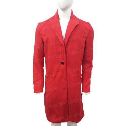 Second Act Jennifer Lopez Red Coat