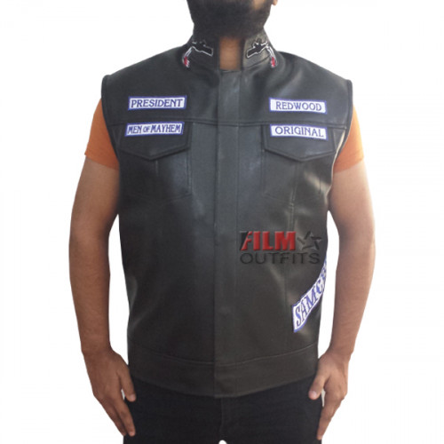 Jax Teller Sons Of Anarchy Biker Vest For Sale With Patches