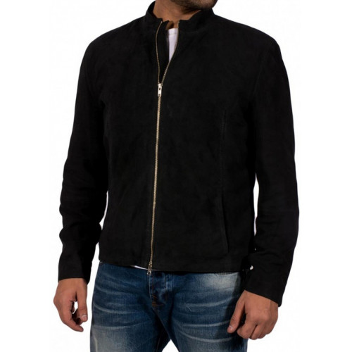 Spectre James Bond Suede Jacket - Daniel Craig Black Jacket