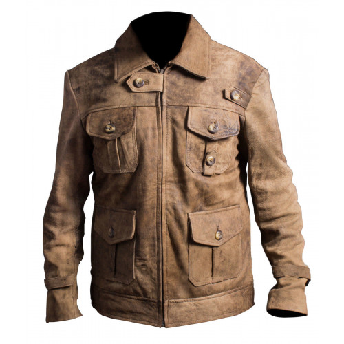 The Expendables 2 Jason Statham Distressed Leather Jacket