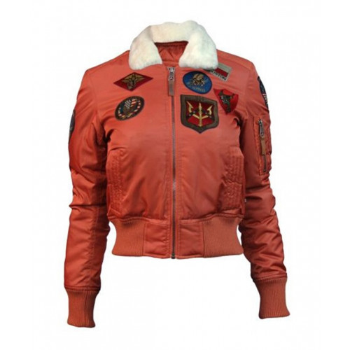 Top Gun B-15 Women's Flight Jacket With Patches