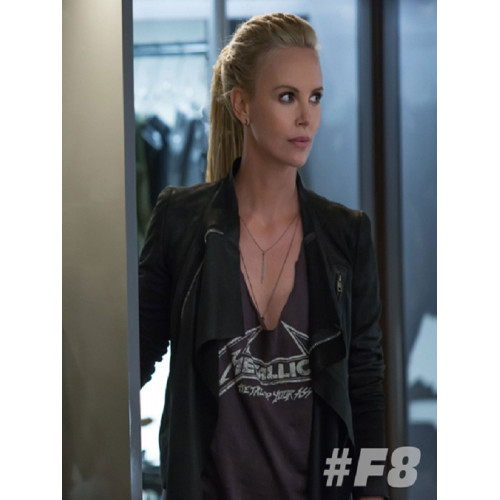 Fast 8 Charlize Theron Cipher Black Jacket