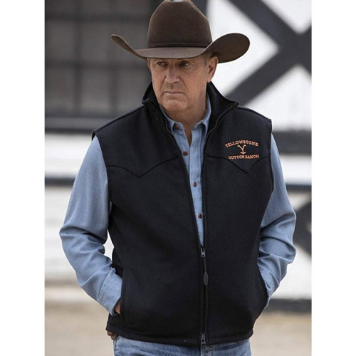 Kevin Costner Yellowstone Dutton Ranch Vest