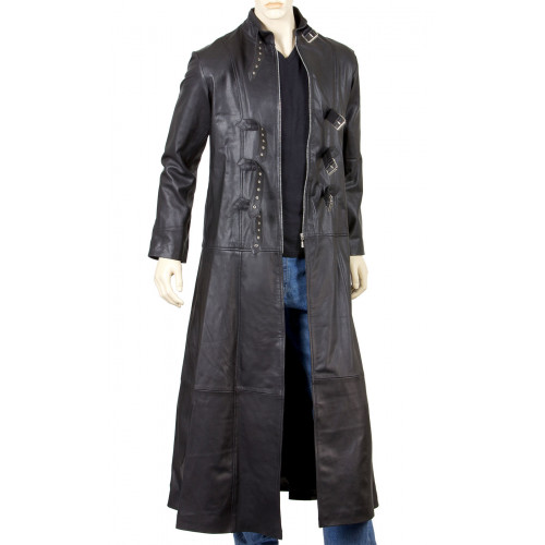 Goth Full Length Leather Coat