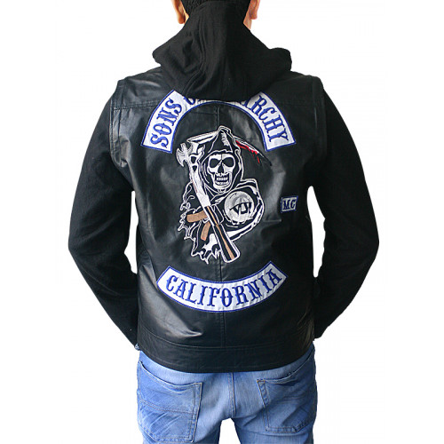 Sons of Anarchy Jax Teller Hoodie Leather Jacket
