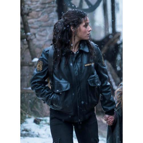 Emerald City Adria Arjona Leather Jacket Filmstaroutfits Com