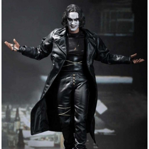 Eric Draven Black Long Leather The Crow Coat