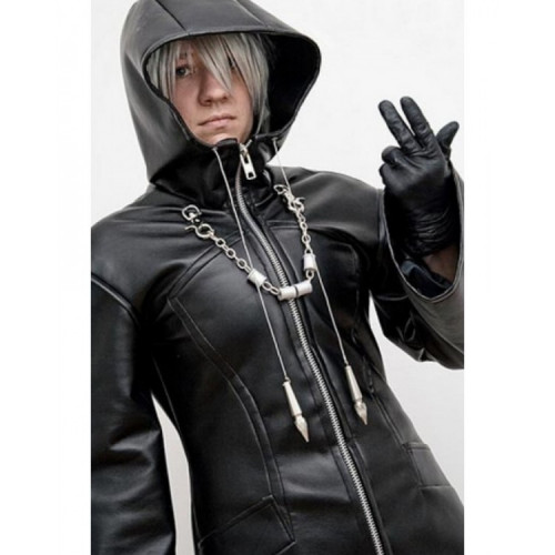 Kingdom Hearts (Organization 13 Enigma) Leather Hoodie Coat
