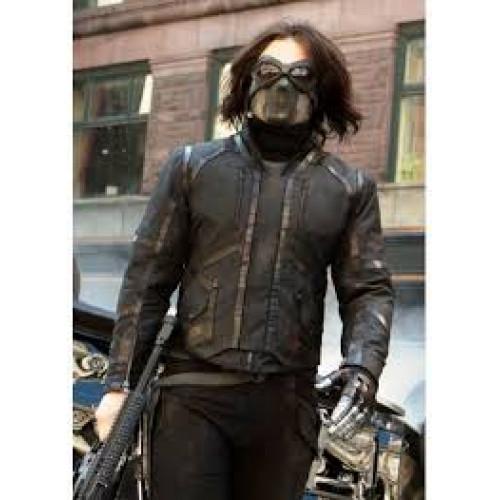 Sebastian Stan Captain America Winter Soldier Jacket
