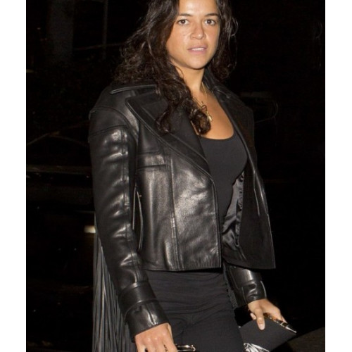 Fast And Furious 7 Michelle Rodrigurez Black Jacket