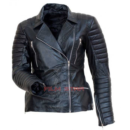 Sandra Bullock Black Leather Jacket