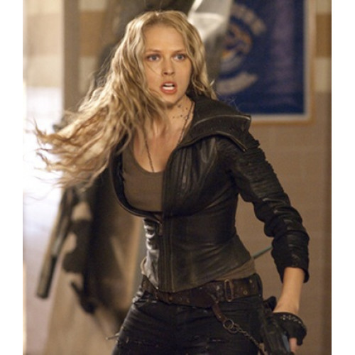 Teresa Palmer Number Six Biker Jacket