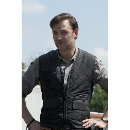 Walking Dead Season 3 Governor (David Morrissey) Quilted Vest ... : leather quilted vest - Adamdwight.com