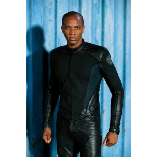 Agents of Shield Mike Peterson Black Leather Jacket