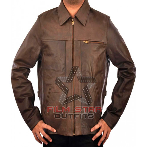 Inception Leonardo DiCaprio (Cobb) Brown Leather Jacket