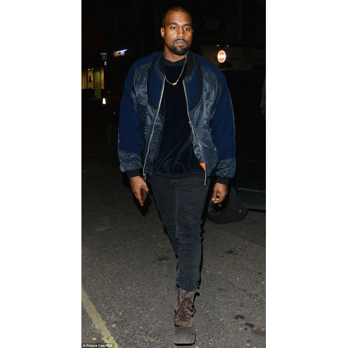 Kanye West Stylish Blue Bomber Jacket