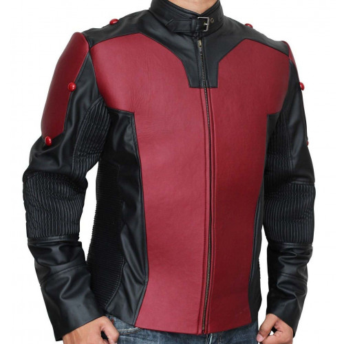 AntMan Red and Black Leather Jacket