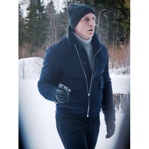 Spectre James Bond Lake Blue Jacket with Watch Hat