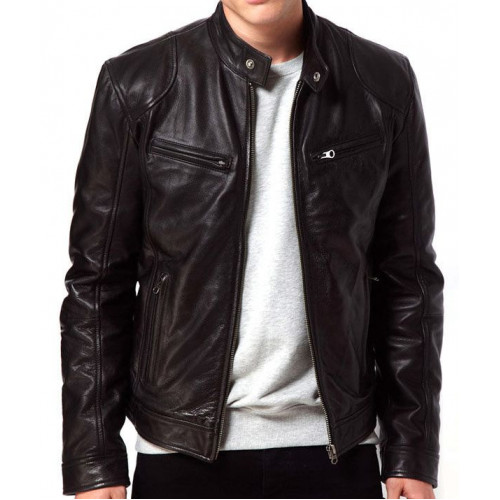 Alex Rider Stormbreaker Black Leather Jacket