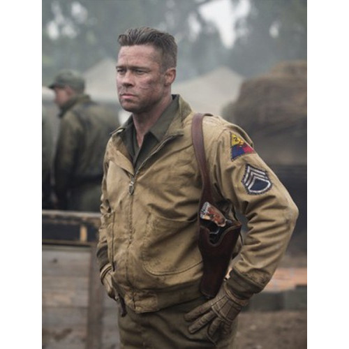 Brad Pitt Fury Wardaddy Cotton Jacket