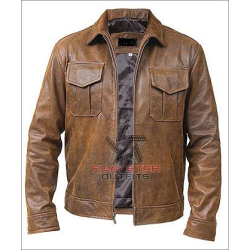 Copper Classic Distressed Brown Leather Jacket