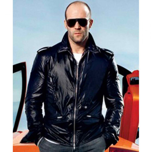 Fast And Furious 7 Jason Statham Black Leather Jacket