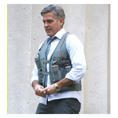 George Clooney Money Monster Leather Vest