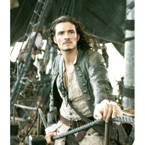 Black leather pirate coat