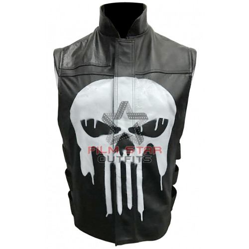 Frank Castle Thomas Jane Punisher Leather Vest