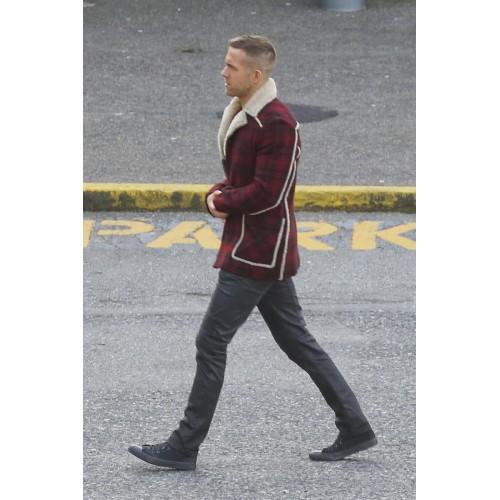 Ryan Reynolds Deadpool Shearling Jacket