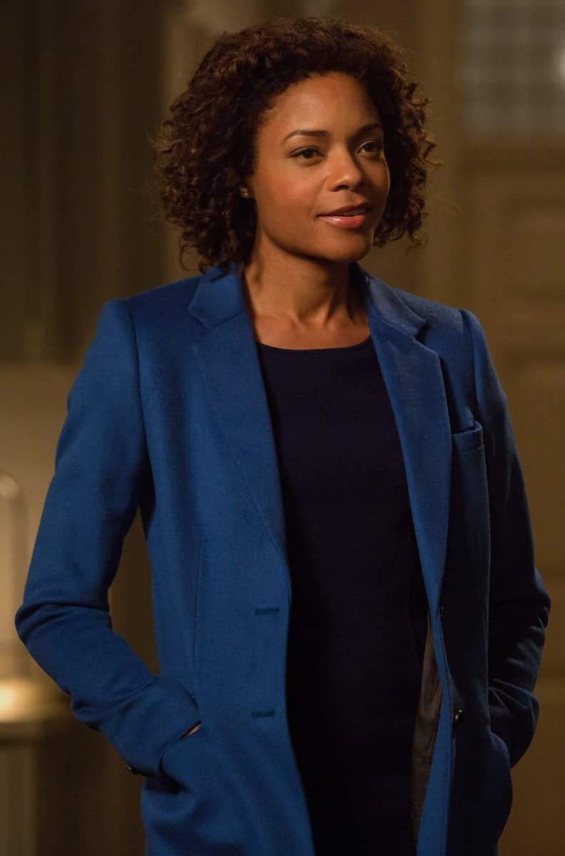 Spectre Naomie Harris Blue Trench Coat