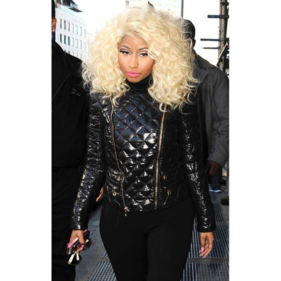 Nicki Minaj Black Quilted Jacket Filmstaroutfits Com
