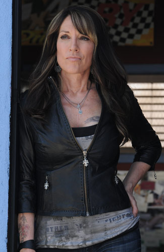 Sons Of Anarchy Katey Sagal Biker Jacket - Filmstaroutfitscom-7804