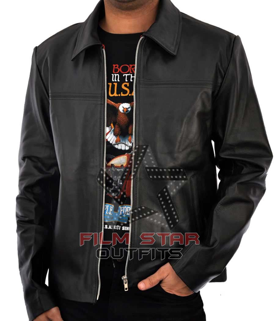 Layer Cake Leather Jacket