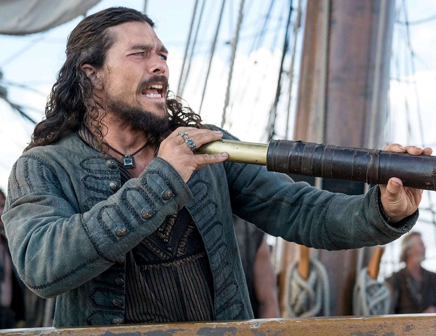 Black sails s3 pirate captain flint leather coat - John Silver Black Sails S3 Luke Arnold Leather Coat