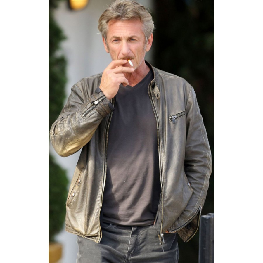 Sean Penn Grey Leather Jacket Filmstaroutfits Com