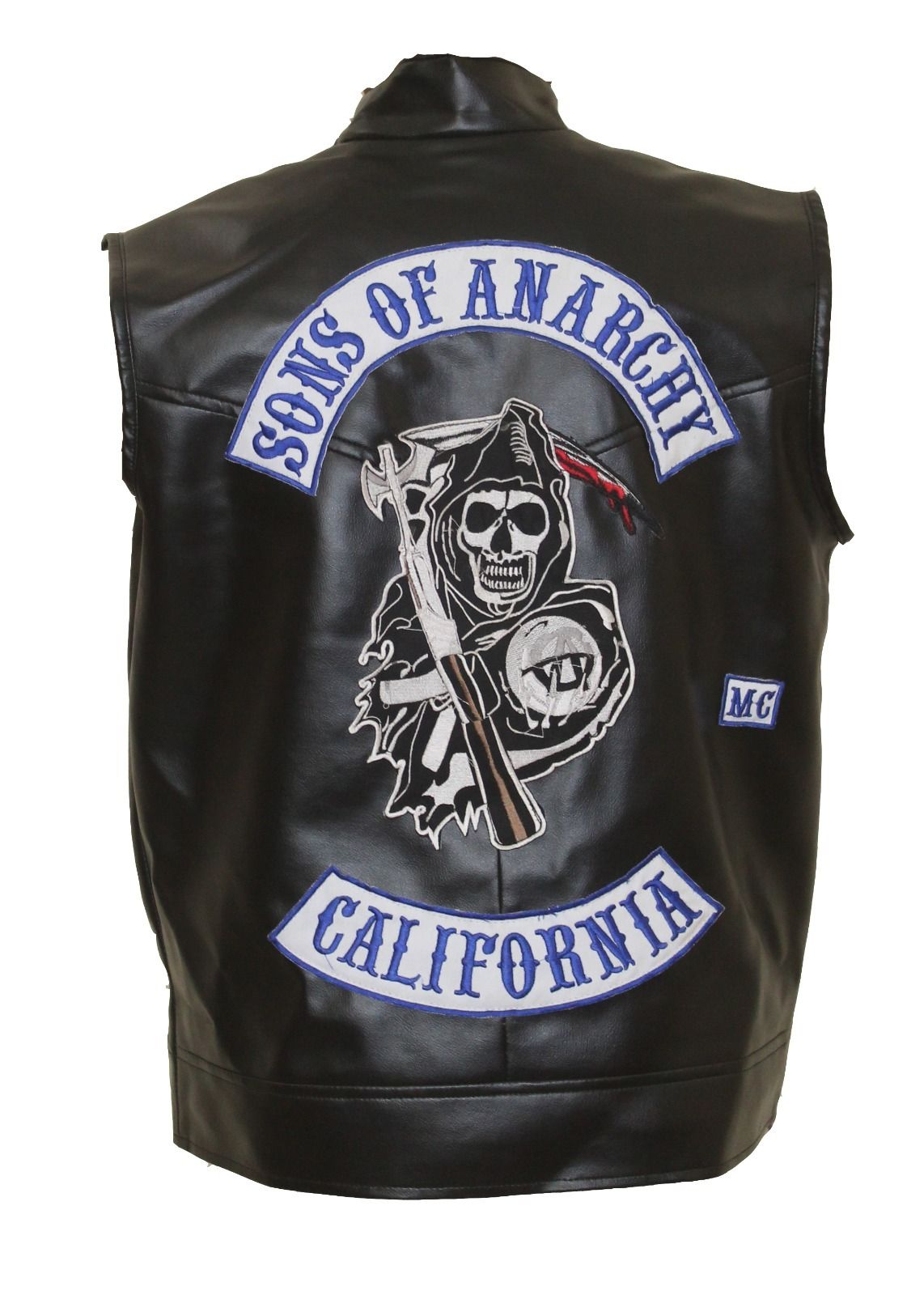sons of anarchy jax teller leather vest with patches. Black Bedroom Furniture Sets. Home Design Ideas